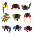 people standing top view set 10 vector image vector image
