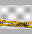 police line background caution yellow tape vector image vector image
