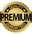 Premium Quality guaranteed golden label vector image vector image