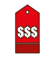 price tag shop symbol icon design vector image