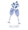 purple drops chevron toasting wine glasses vector image vector image