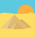 Pyramid egypt vector image vector image