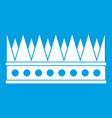regal crown icon white vector image vector image