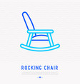 rocking chair thin line icon vector image