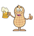 Royalty Free RF Clipart Happy Peanut Cartoon vector image vector image