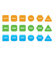 set of minus icons vector image vector image