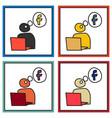 set of unusual look facebook logotype social vector image vector image