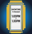 Showtime retro cinema neon sign vector image