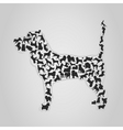 silhouette dog vector image vector image