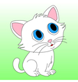 Small white kitten vector image vector image