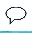 speech bubble line icon logo template design eps vector image vector image