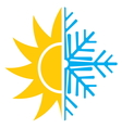 summer winter air conditioning icon3 resize vector image vector image