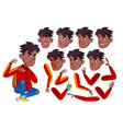 teen boy rap battle singer teenager black vector image