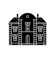 villa castle black icon concept villa castle vector image vector image