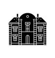 villa castle black icon concept villa castle vector image