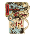 Vintage japanese label vector | Price: 3 Credits (USD $3)
