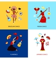 Woman Dancing Design Concept vector image vector image
