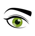 womans eye icon vector image vector image