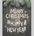 xmas and new year holiday greeting card vector image vector image