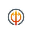 abstract three arrow hub logo vector image