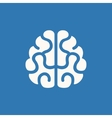 Brain Icon on Blue Background vector image