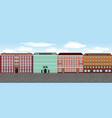 europe city street set 2 multi-colored vector image