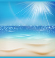 sunny day with sand eps 10 vector image