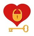 heart on castle vector image