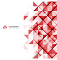 abstract red geometric triangles pattern on white vector image vector image