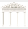 antique white colonnade with old ionic columns vector image vector image