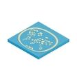 Artificial islands in the UAE icon vector image vector image