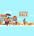 autumn sale special fall offer people vector image vector image