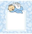 baby boy sleeping vector image vector image