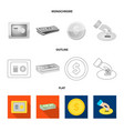 bank and money sign set of vector image vector image