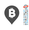 bitcoin map marker icon with free bonus vector image vector image