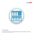 bottles on bar counter icon - white circle button vector image