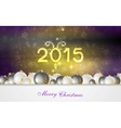 Bright Christmas background with balls vector image