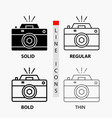 camera photography capture photo aperture icon in vector image vector image