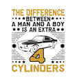 car quote and saying difference between a man vector image vector image