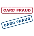 Card Fraud Rubber Stamps vector image vector image