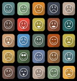 Circle face flat icons with long shadow vector image vector image