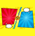 comic book versus background vector image vector image