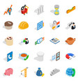 commerce icons set isometric style vector image vector image