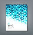 Cover report blue triangle geometric pattern vector image vector image