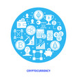 cryptocurrency round banner with place for text vector image vector image