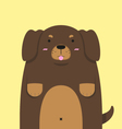 cute big fat Dachshund dog vector image vector image