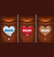 dark chocolate heart with coconut cherry hazelnu vector image vector image