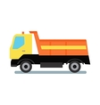 Delivery Tipper Truck vector image