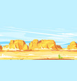 desert canyon landscape game background vector image