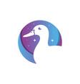 duck animal modern logo vector image vector image